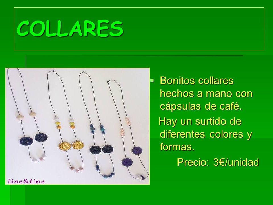 COLLARES Bonitos collares hechos a mano con cápsulas de café.