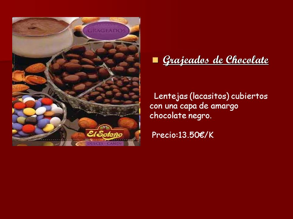 Grajeados de Chocolate