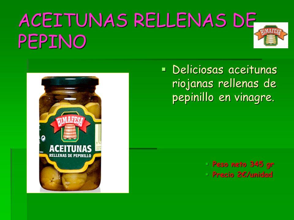 ACEITUNAS RELLENAS DE PEPINO
