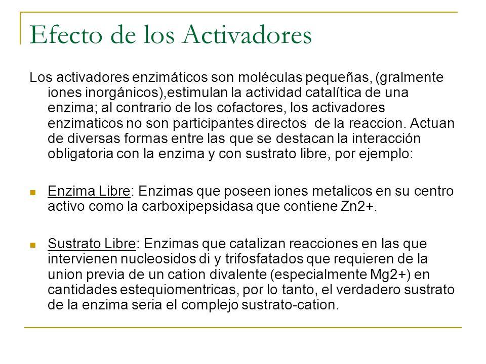 Efecto de los Activadores