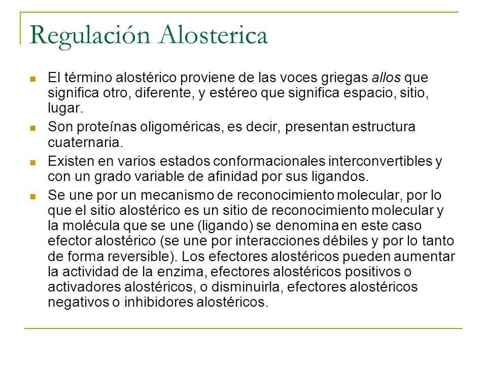 Regulación Alosterica
