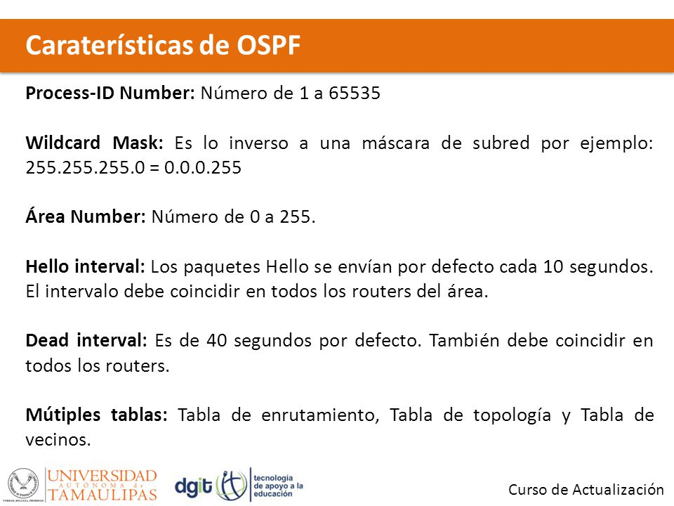 Caraterísticas de OSPF