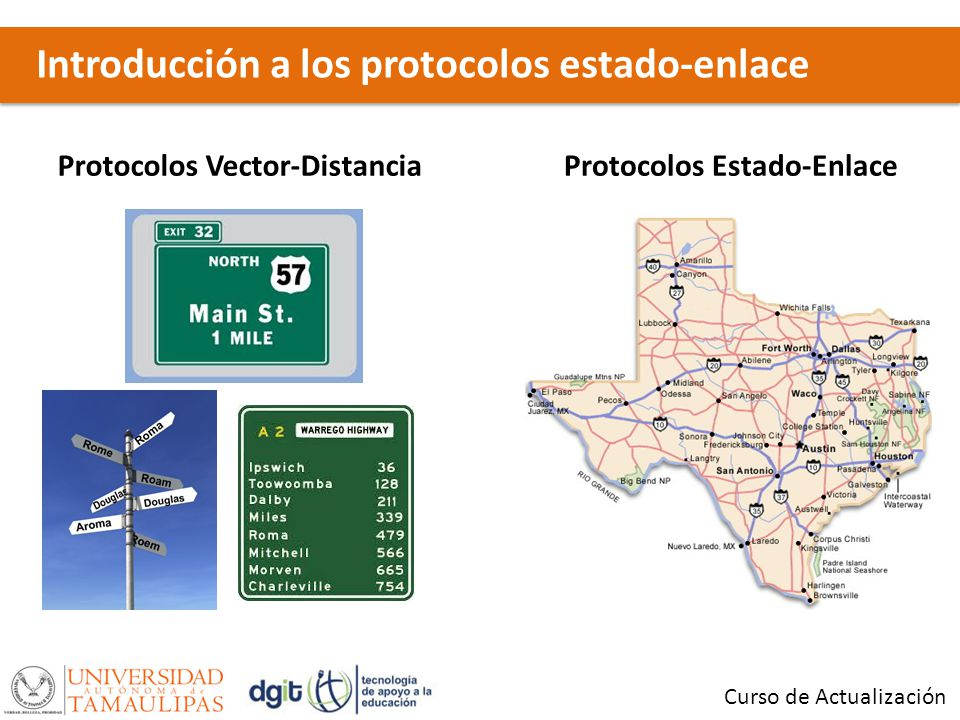 Protocolos Vector-Distancia Protocolos Estado-Enlace
