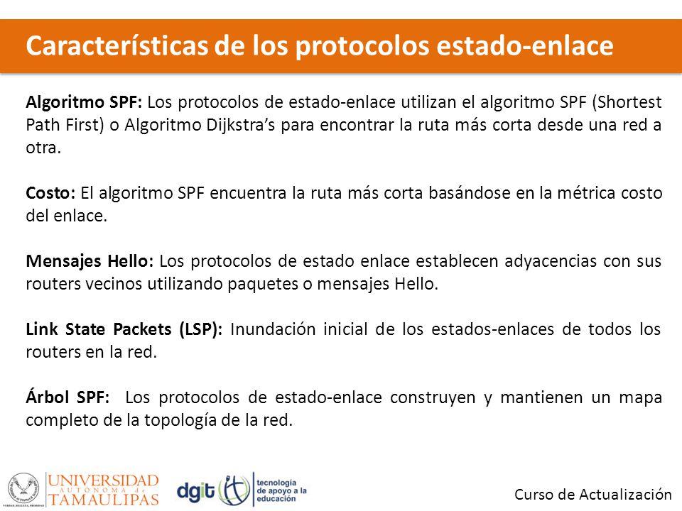 Características de los protocolos estado-enlace
