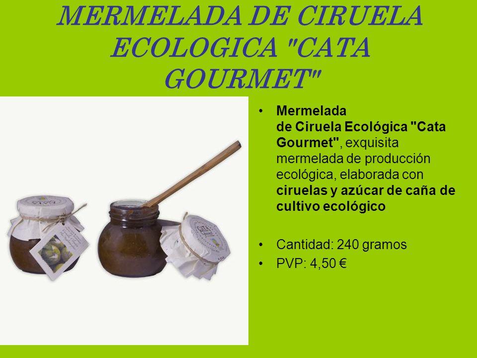 MERMELADA DE CIRUELA ECOLOGICA CATA GOURMET