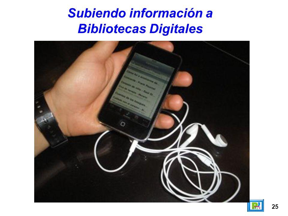 Subiendo información a Bibliotecas Digitales