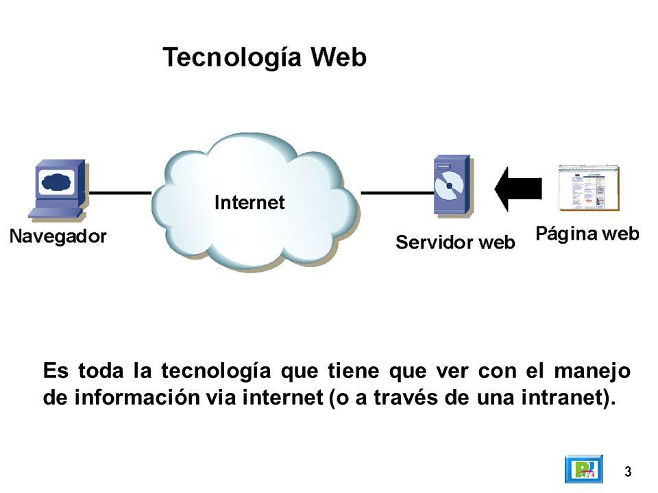 Es toda la tecnología que tiene que ver con el manejo de información via internet (o a través de una intranet).