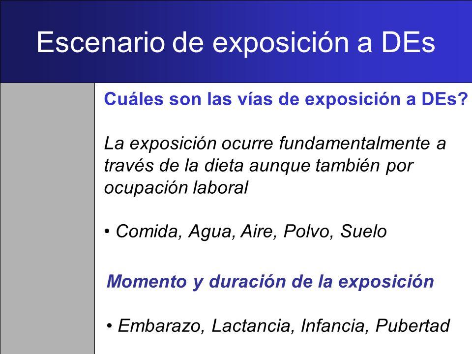 Escenario de exposición a DEs
