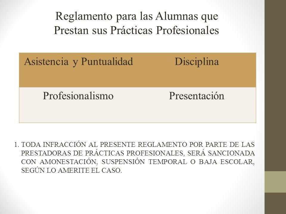 Reglamento para las Alumnas que Prestan sus Prácticas Profesionales