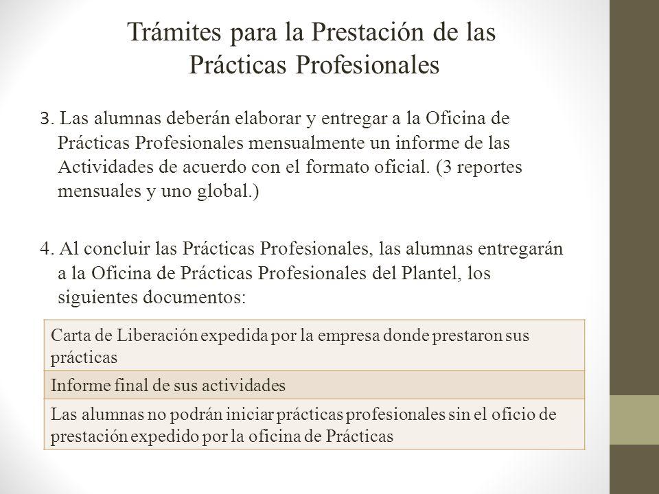 Trámites para la Prestación de las Prácticas Profesionales