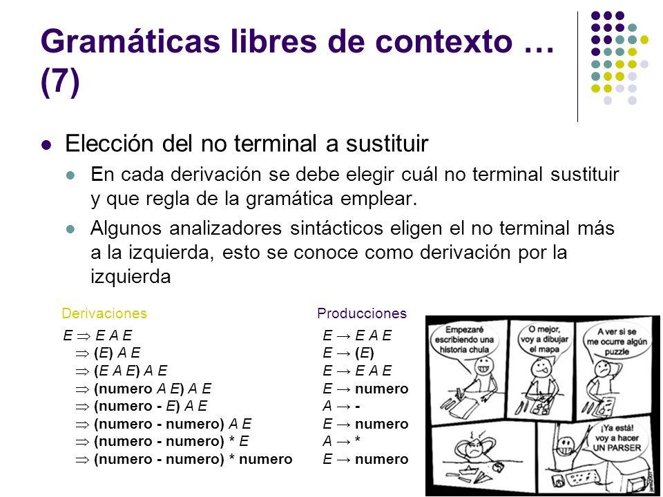 Gramáticas libres de contexto … (7)