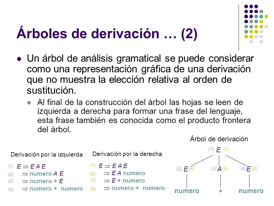 Árboles de derivación … (2)