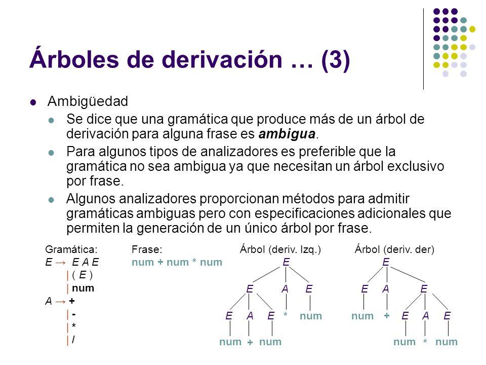 Árboles de derivación … (3)