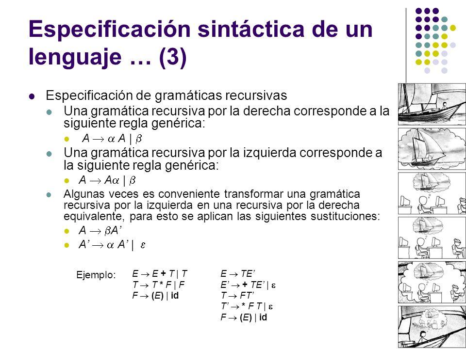 Especificación sintáctica de un lenguaje … (3)