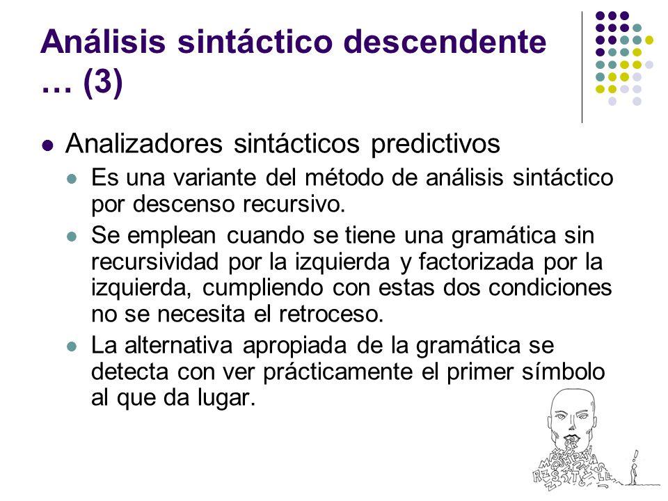 Análisis sintáctico descendente … (3)