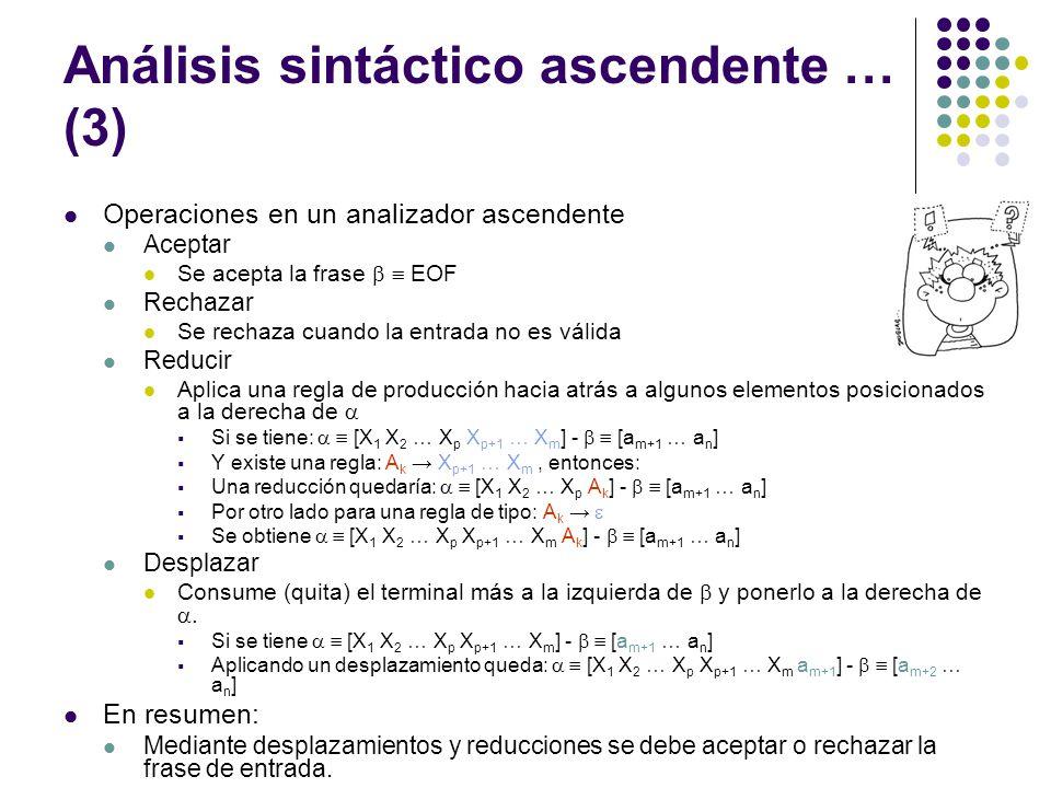 Análisis sintáctico ascendente … (3)