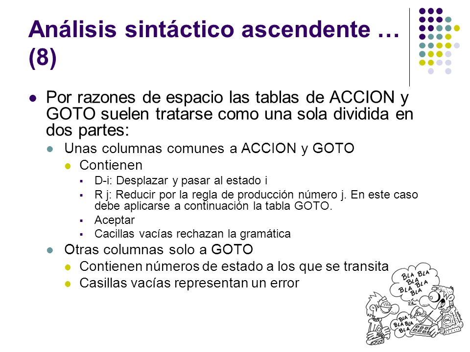 Análisis sintáctico ascendente … (8)