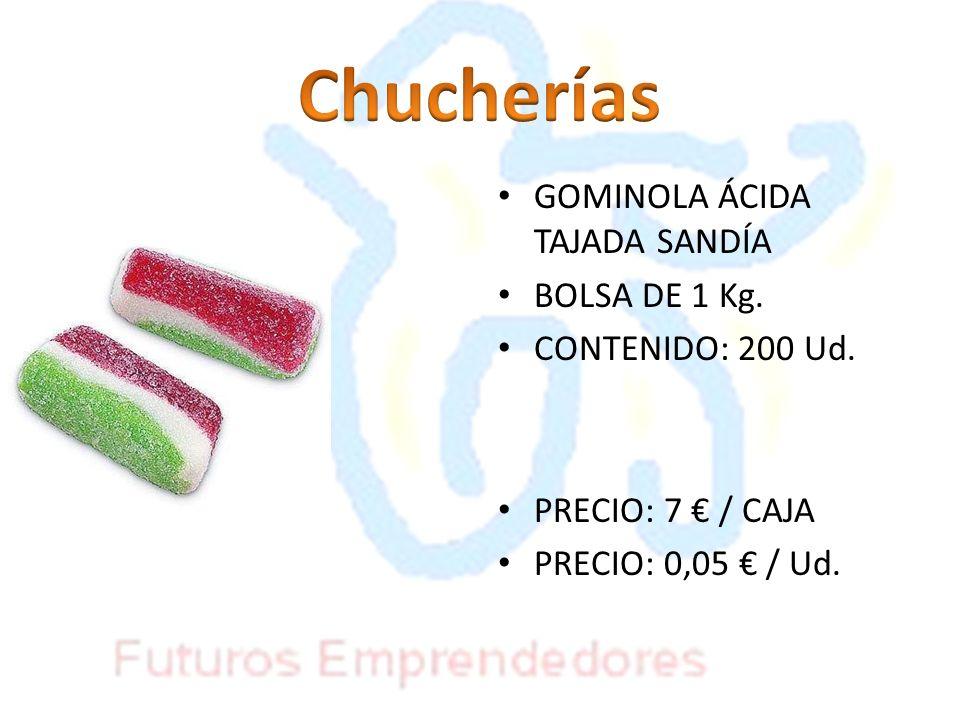 Chucherías GOMINOLA ÁCIDA TAJADA SANDÍA BOLSA DE 1 Kg.