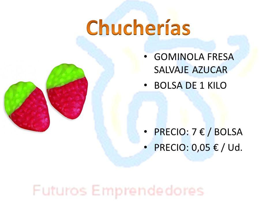 Chucherías GOMINOLA FRESA SALVAJE AZUCAR BOLSA DE 1 KILO