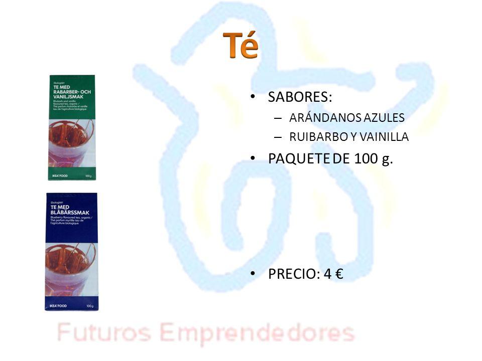Té SABORES: PAQUETE DE 100 g. PRECIO: 4 € ARÁNDANOS AZULES