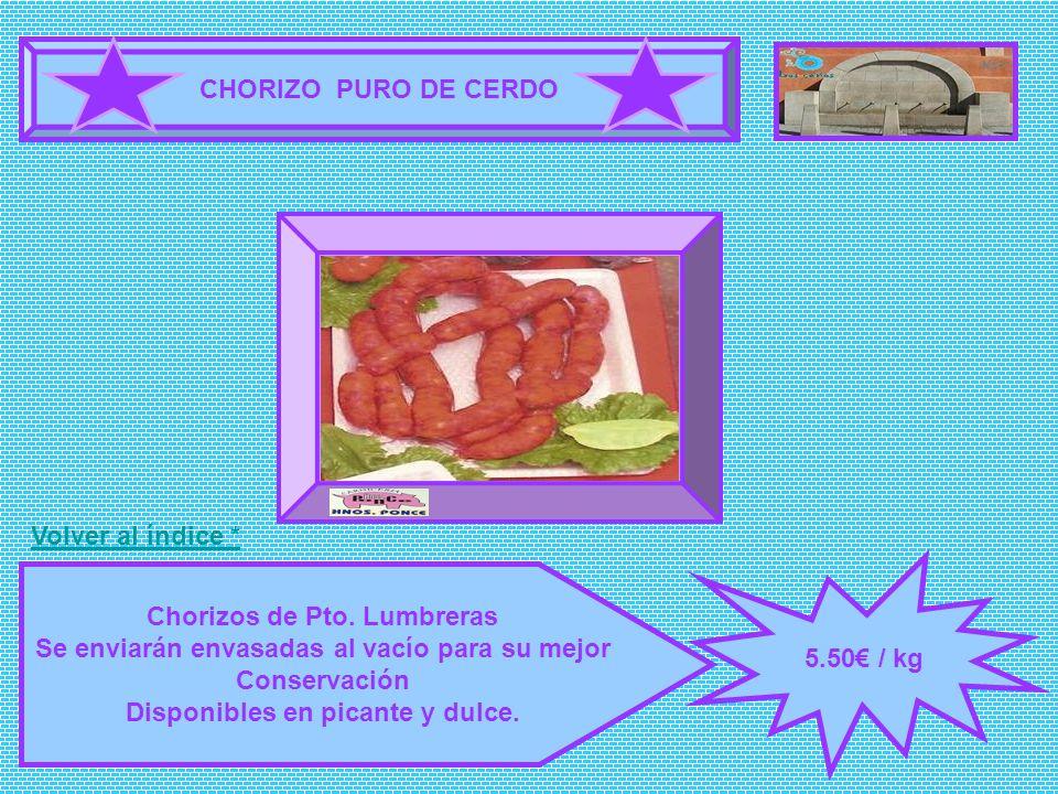 Chorizos de Pto. Lumbreras