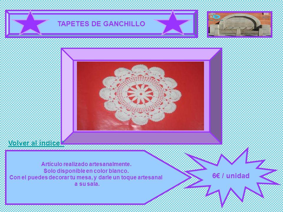 TAPETES DE GANCHILLO FOTOGRAFÍA 6€ / unidad