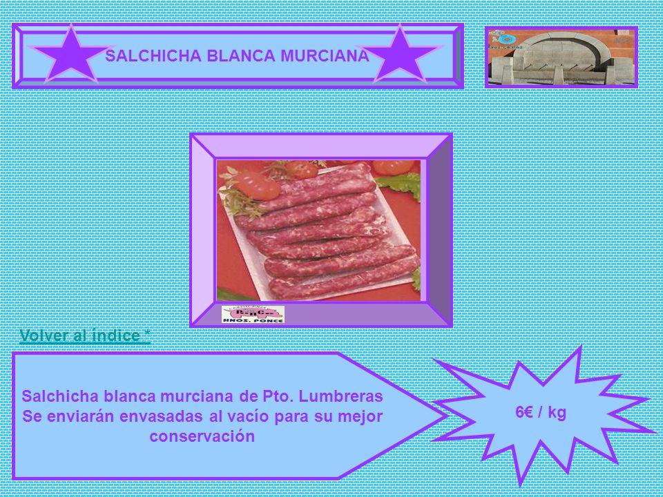 SALCHICHA BLANCA MURCIANA