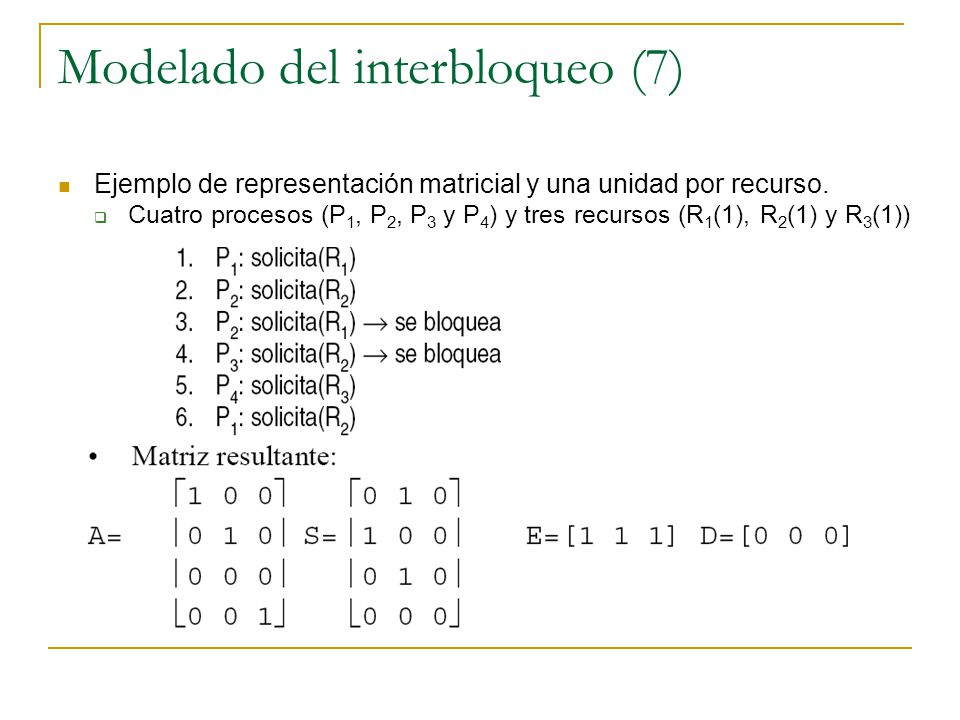 Modelado del interbloqueo (7)