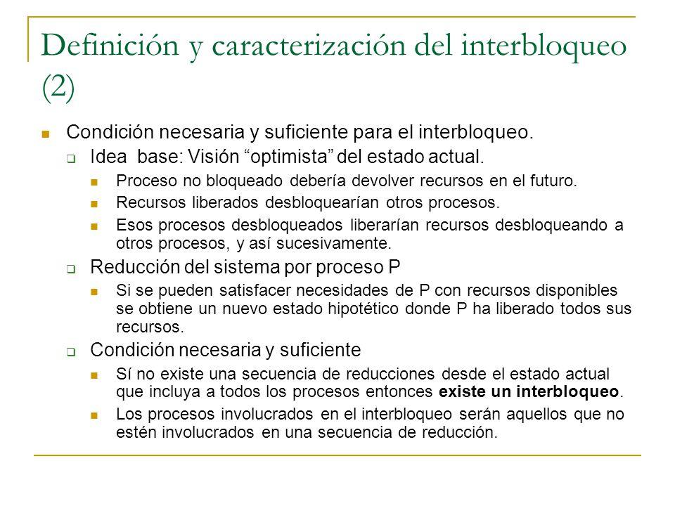 Definición y caracterización del interbloqueo (2)