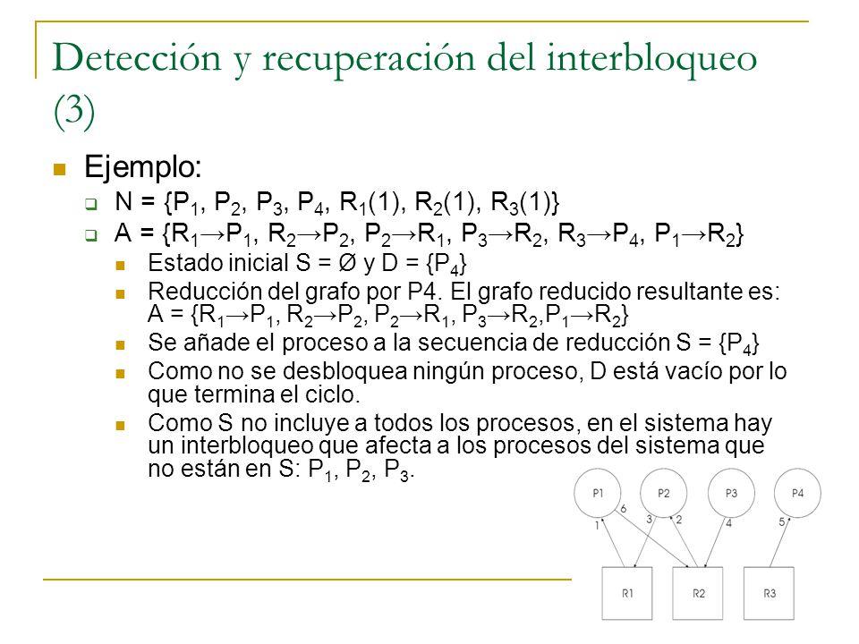 Detección y recuperación del interbloqueo (3)