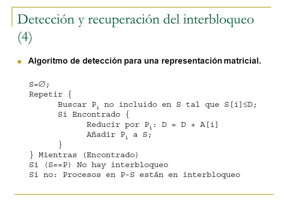 Detección y recuperación del interbloqueo (4)