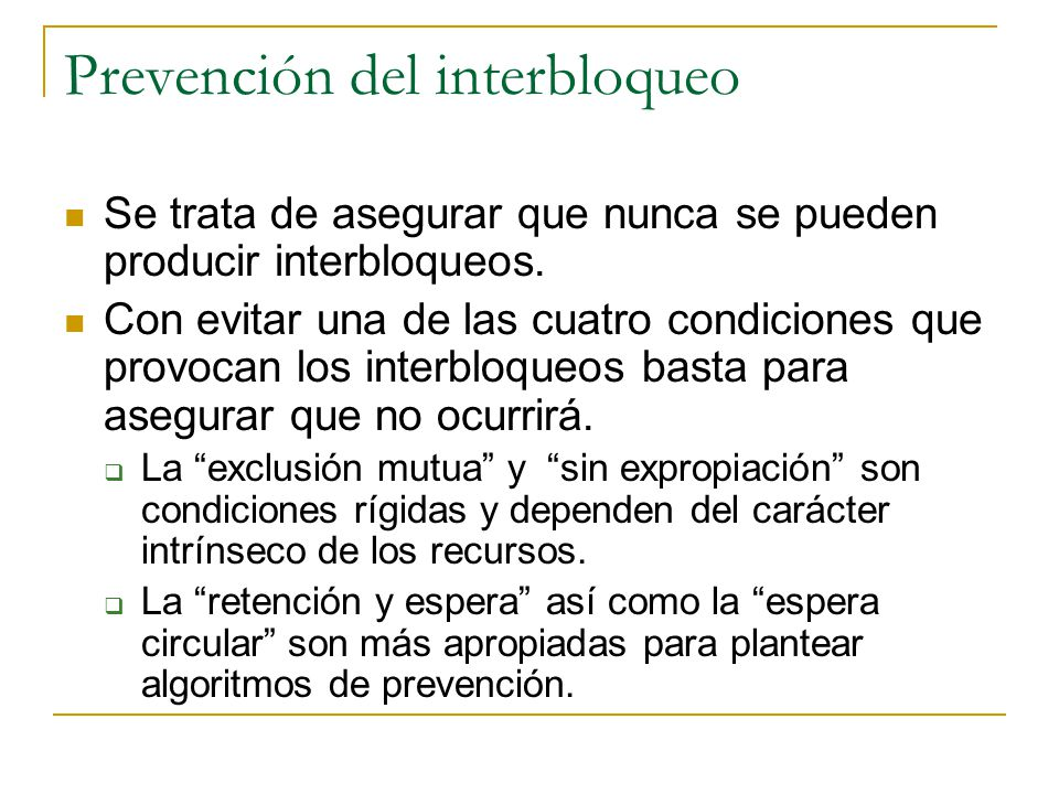 Prevención del interbloqueo