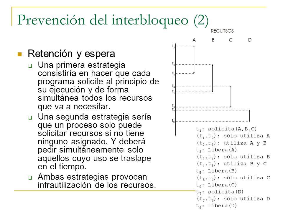 Prevención del interbloqueo (2)