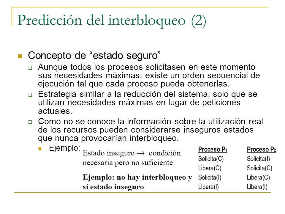Predicción del interbloqueo (2)