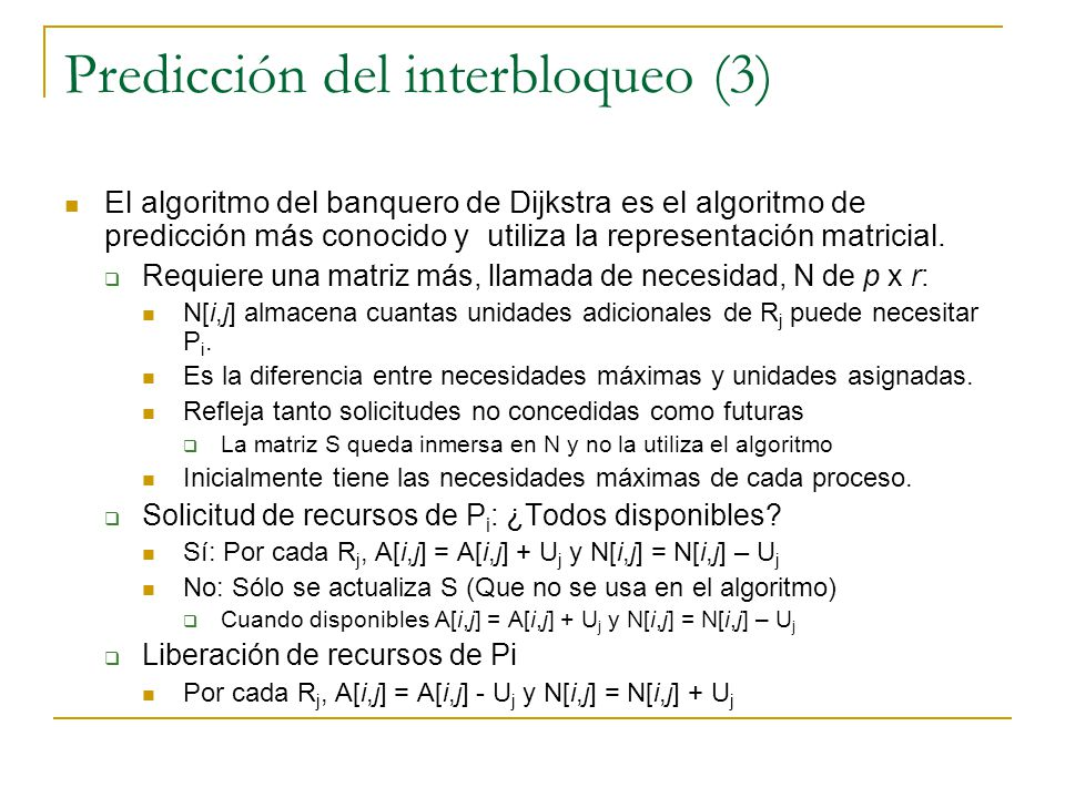 Predicción del interbloqueo (3)