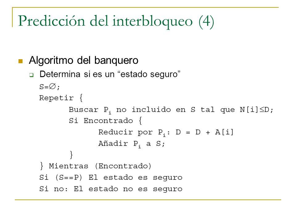 Predicción del interbloqueo (4)