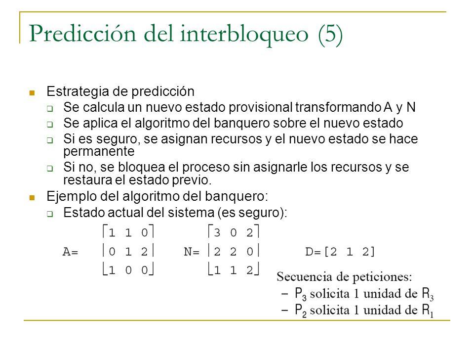 Predicción del interbloqueo (5)