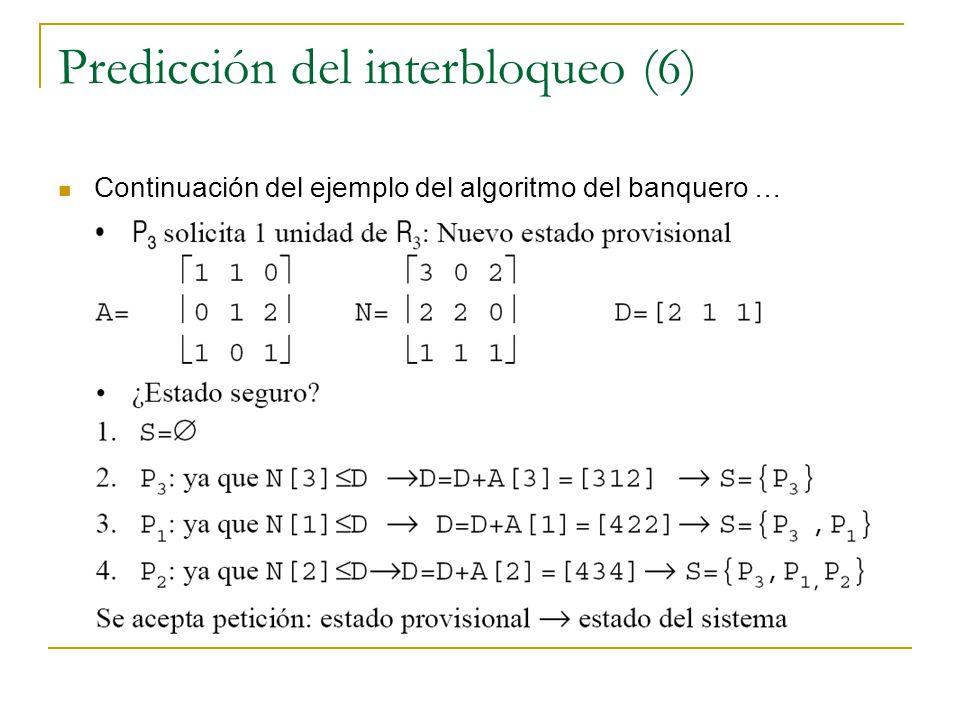 Predicción del interbloqueo (6)
