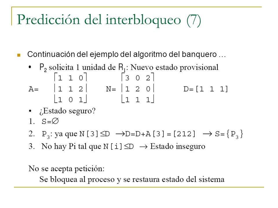 Predicción del interbloqueo (7)