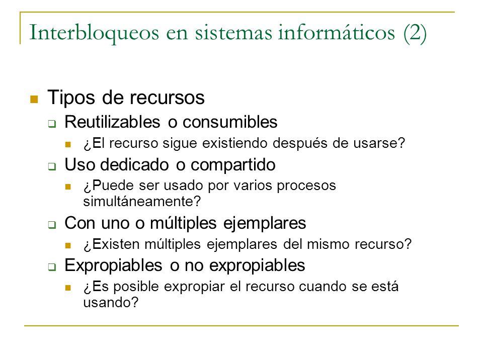 Interbloqueos en sistemas informáticos (2)