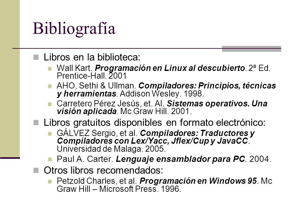 Bibliografía Libros en la biblioteca: