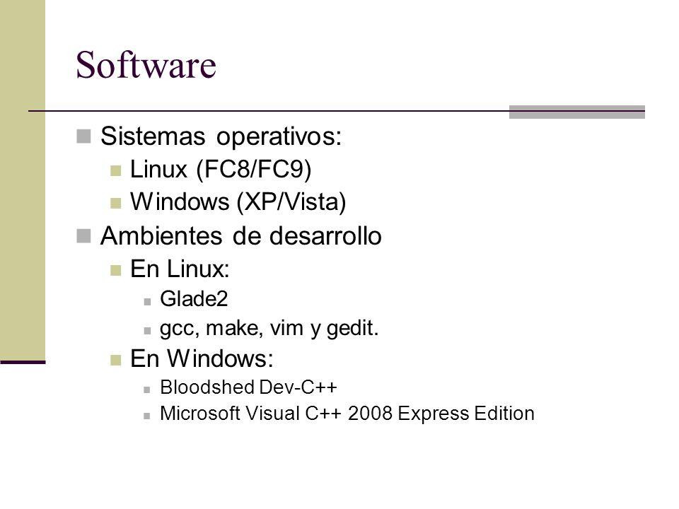 Software Sistemas operativos: Ambientes de desarrollo Linux (FC8/FC9)