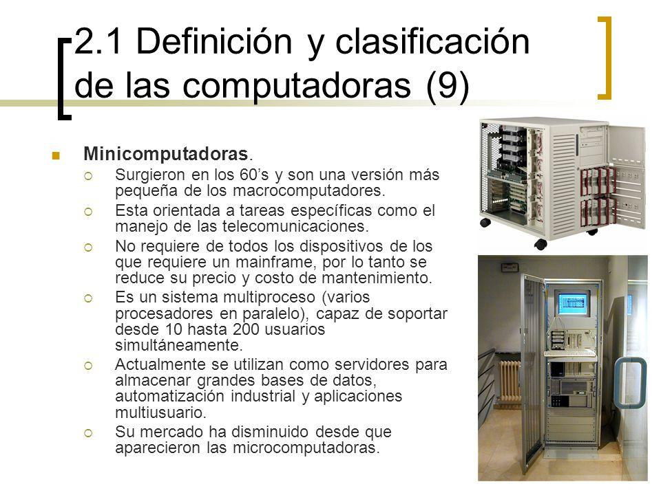 2.1 Definición y clasificación de las computadoras (9)