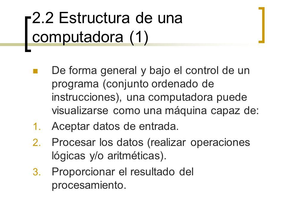 2.2 Estructura de una computadora (1)
