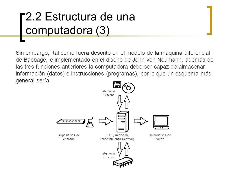 2.2 Estructura de una computadora (3)