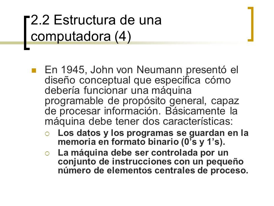 2.2 Estructura de una computadora (4)