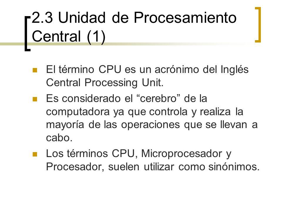 2.3 Unidad de Procesamiento Central (1)
