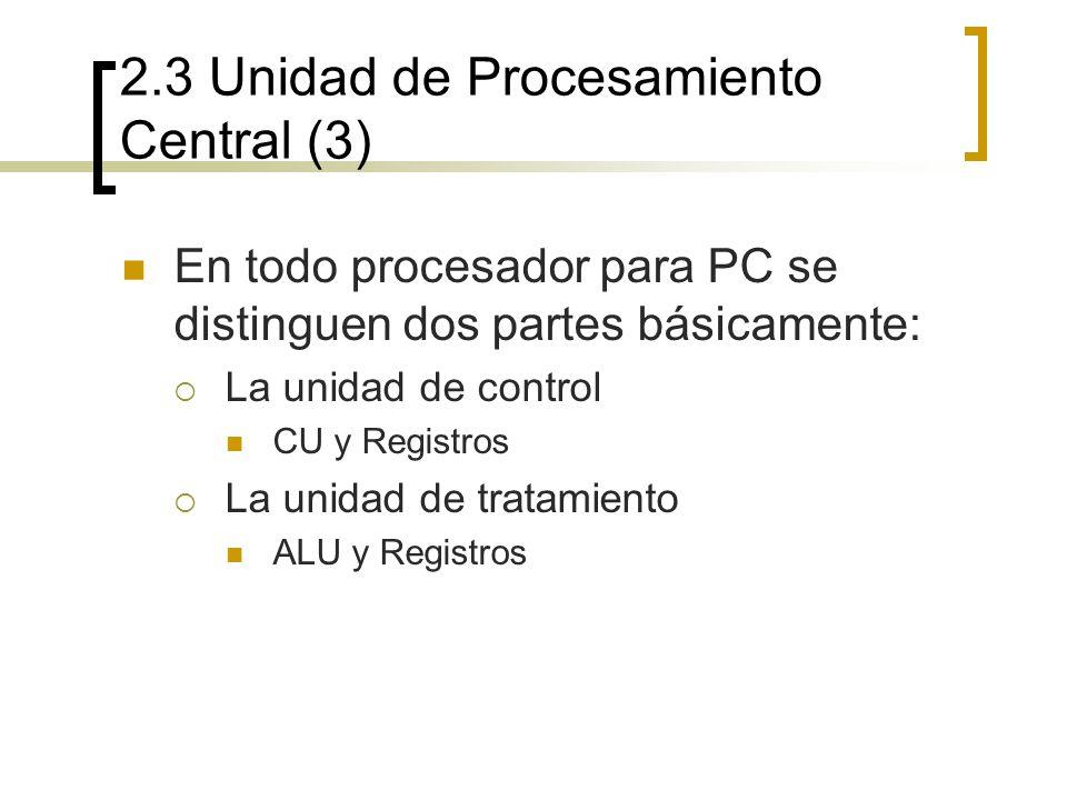 2.3 Unidad de Procesamiento Central (3)