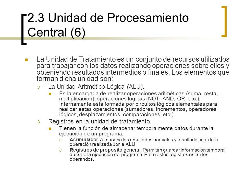2.3 Unidad de Procesamiento Central (6)