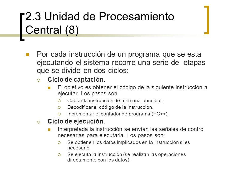 2.3 Unidad de Procesamiento Central (8)